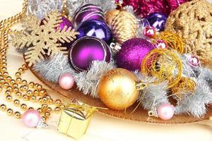 juldekorationer på nära håll foto