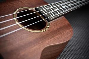 närbild av ukulele