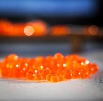 röd kaviar på nära håll foto