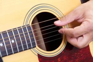 gitarr på nära håll