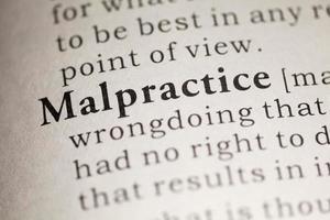definition av malpractice i ordboken foto