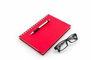 """röd dagbok med ordet """"professionell"""". foto"""