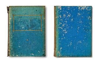 gammal bok isolerad på vit bakgrund foto
