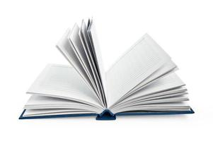 anteckningsbok avslöjad foto
