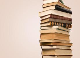bok, stack, lärobok foto