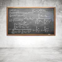 formel på krittavlan foto
