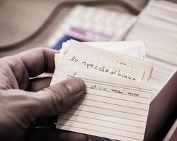 lära sig ordförråd med flashcards foto