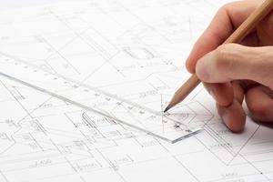 teknisk design och ritning foto