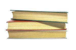 böcker på vitt foto