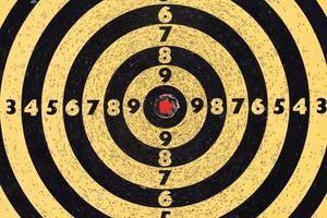 skjutmål. sikta med siffror. rött centrum. makrovy foto