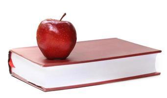 bok och äpple foto