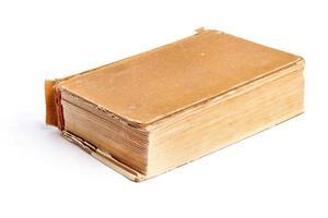 gammal bok i ett tygomslag foto