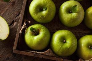 grönt granny smith apple foto