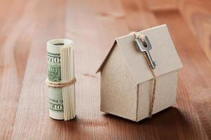 husbyggnad, lån, bostadskostnad eller köp av nytt hem foto