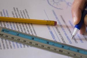 analys, studie och lösningar. foto