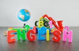 studera engelska konceptuell bild