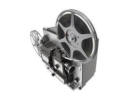 retro filmprojektor isolerad foto