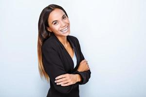 koncept för multietnisk affärskvinna foto