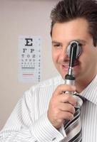optiker, ögonläkare foto