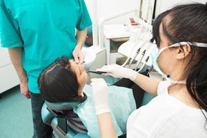 på tandläkarens kontor foto