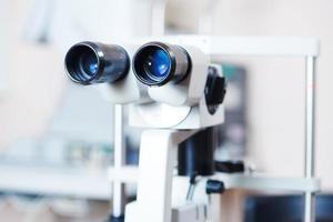 optisk medicinsk utrustning för ögonundersökning foto