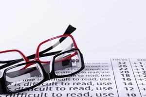 glasögon och ögondiagram