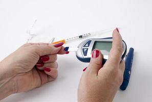 diabetes testning foto