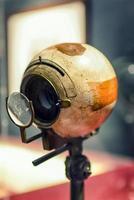 gamla vintage optiker öga foto