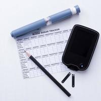 diabetes kontroll uppsättning bakgrund foto