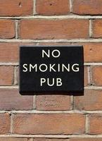 ingen rökning pub foto
