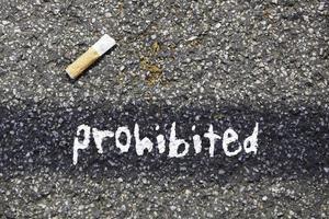 rökning och ströförbud förbjudet foto