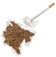 cigarett och tobak formad som montenegro (serie) foto