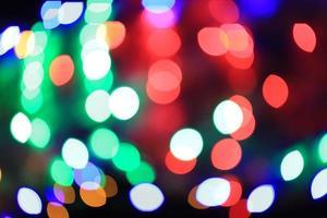 abstrakta bokeh julbelysning foto