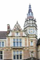 klocktorn på lloyds bankbyggnad i Cambridge, Storbritannien foto