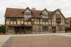 shakespeares födelseplats, stratford-on-avon foto
