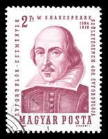 william shakespeare, hungary frimärke foto