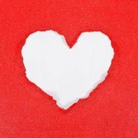 hjärta från papper foto