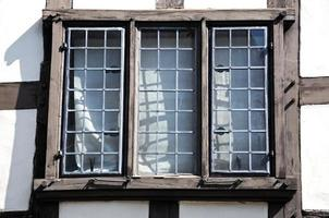 tudor fönster, tewkesbury. foto