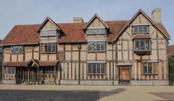 william shakespeares födelseplats, henley street, stratford-on-avon foto