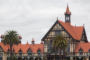 rotorua museum och regeringspark nz foto