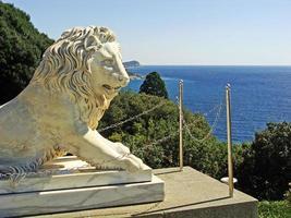 skulptur av medicin lejon, vorontsov palats foto