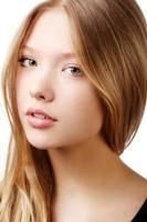 vacker tonårig tjej porträtt foto
