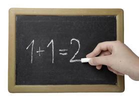 svarta tavlan matematik klassrum skolutbildning foto