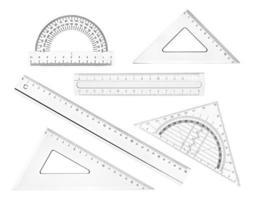 plast linjal matematik geometri skolutbildning foto