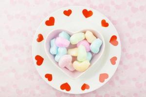 porslin av kärlek svamp foto