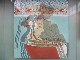 antik grekisk målning foto