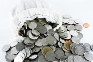 thailändska mynt baht foto