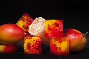 mango glycerin tvål foto
