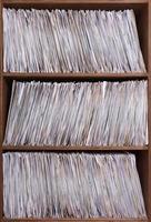 skivställ med 45 skivor foto