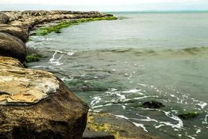 vågbrytare strand boca del rio veracruz foto